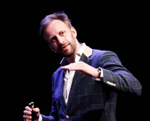 Nick Sohnemann auf der Bühne