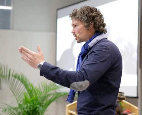 Martin Morgenstern beim Vortragen