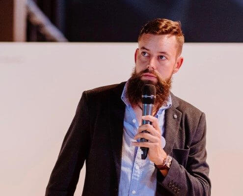 Florian Astor auf der Bühne