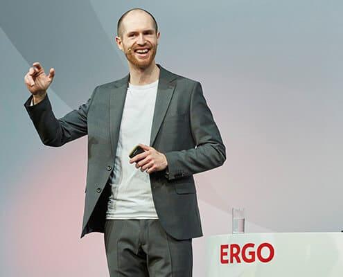 Frank Eilers beim Vortragen