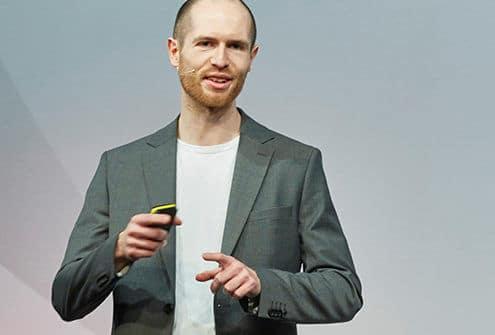 Frank Ehlers beim Vortragen