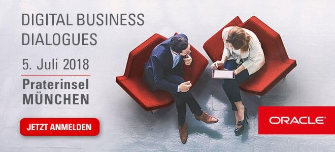 Banner Digital Business Dialogues am 5. Juli 2018 in München
