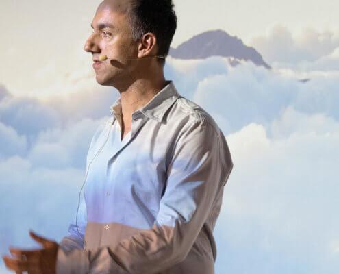 Matthias Jung auf der Bühne