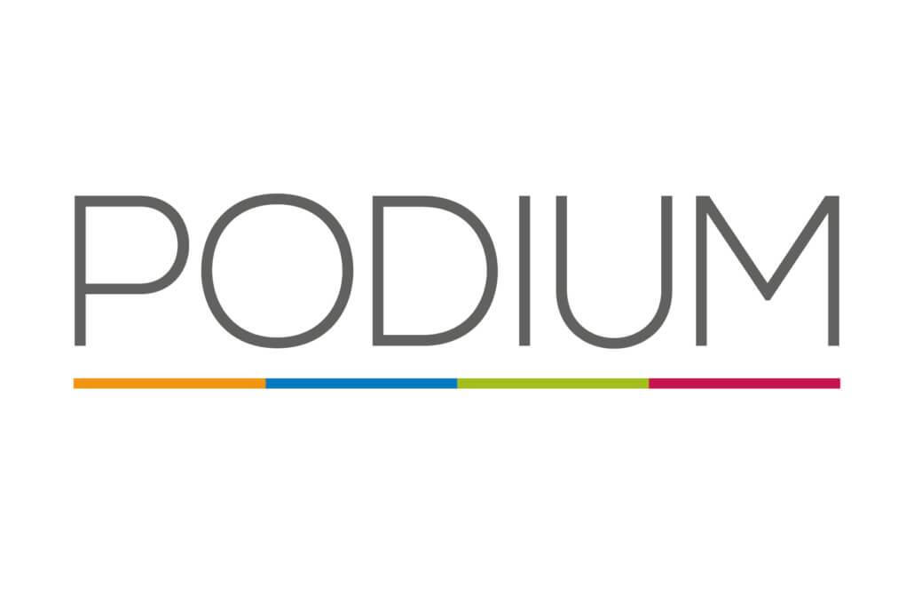 Logo der Agentur PODIUM