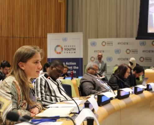 Rebecca Freitag in der UN